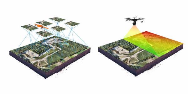rilievi gps drone