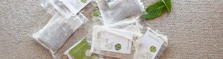 tè in sacchetti in garza di cotone