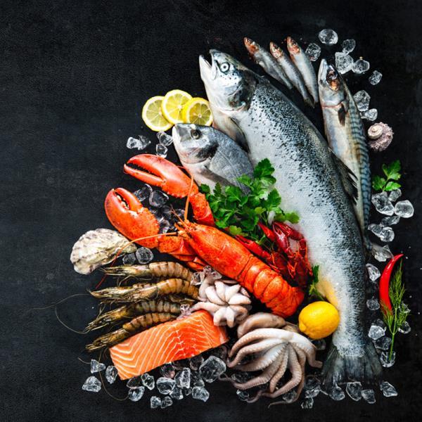 piatti di pesce surgelato