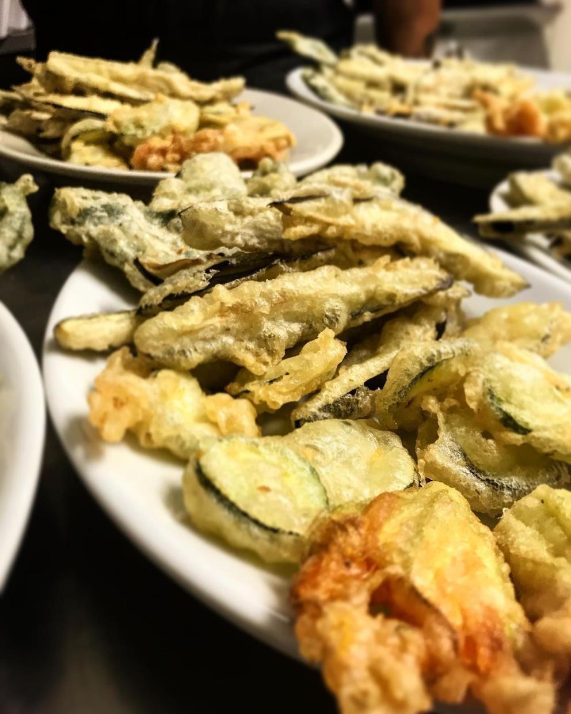 verdure pastellate e fritte agriturismo zabè gallura