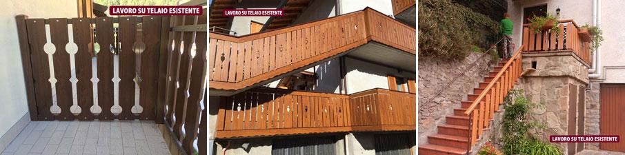 scale e balaustre, balconate e recinzioni