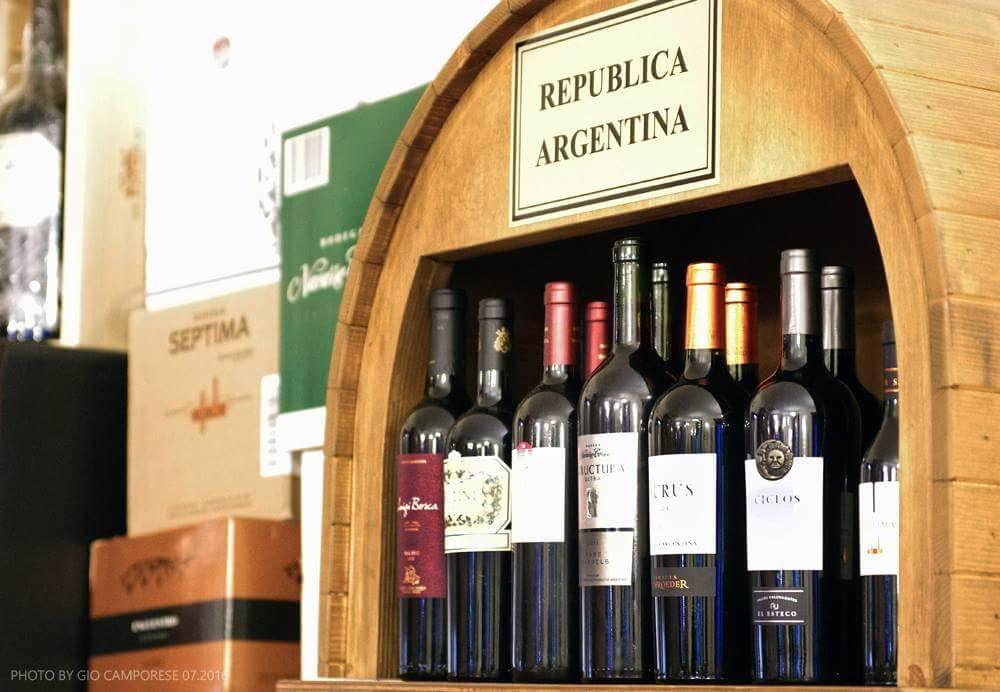 Vini argentini Treviso