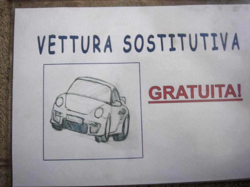 vettura sostitutiva gratis bs
