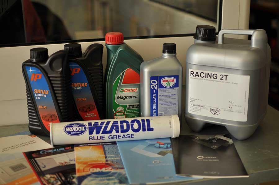 lubrificanti per compressori e idropulitrici