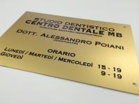realizzazione targhe Trieste