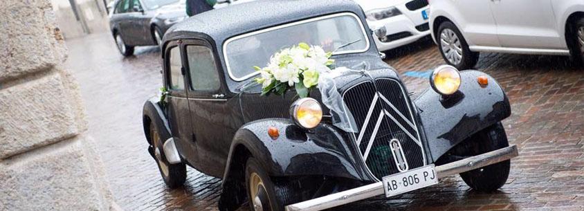 noleggio auto storiche matrimonio Bergamo