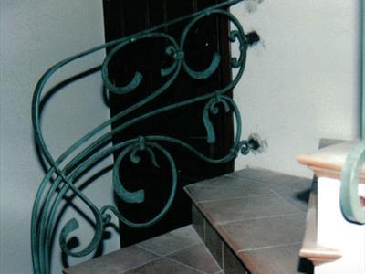 Ringhiera in ferro battuto decorata