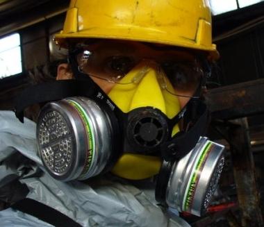 Maschera per amianto