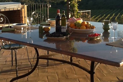 Tavolo in marmo da esterni