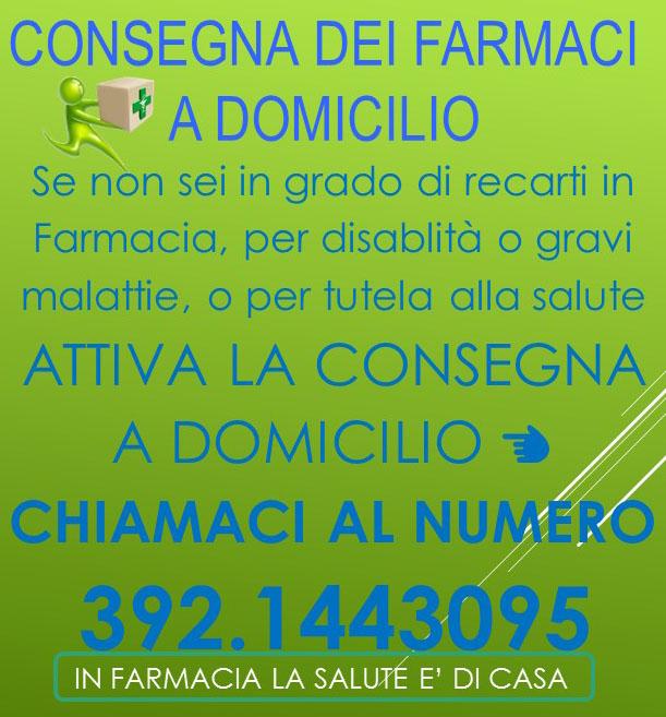 CONSEGNA DEI FARMACI A DOMICILIO