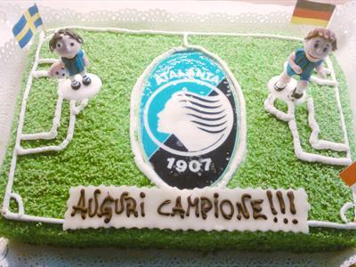 torta con campo di calcio