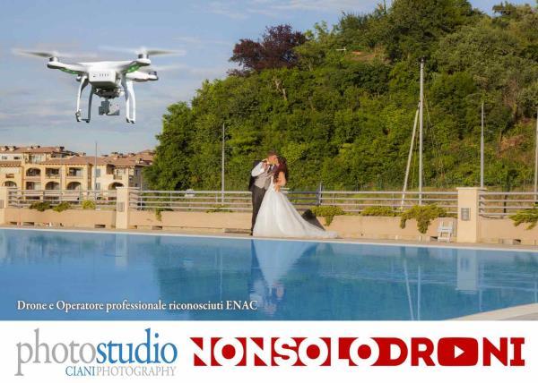 Video matrimoniali fatti con riprese aeree drone