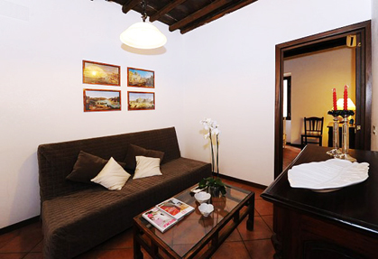 trilocale soggiorno trastevere roma