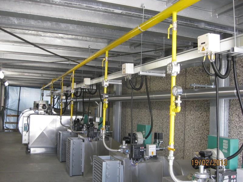 impianti di riscaldamento industrali ad aria