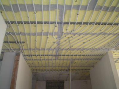 impianto di riscaldamento per soffitti