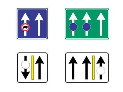 segnali uso corsie