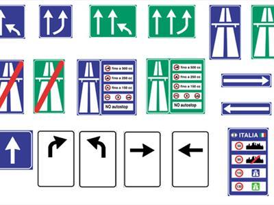 segnali di variazione corsie