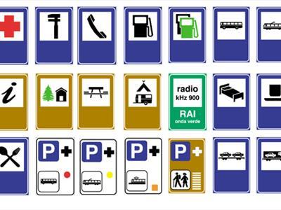 segnali indicazione servizi