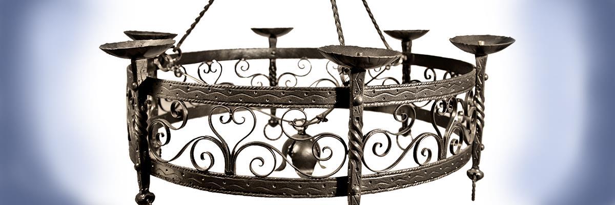 lampadario in ferro