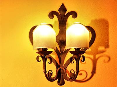 lampadario muro ferro