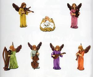 GESÙ BAMBINO CON ANGELI STATUE PRESEPI MORANDUZZO