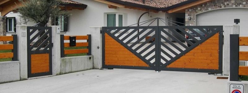cancelli e recinzioni in ferro e legno maniago pn