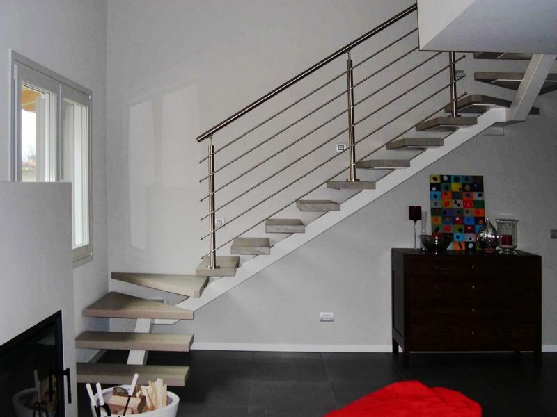 scale e corrimano in acciaio