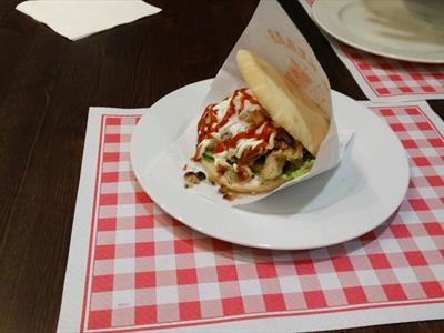 panino con kebab
