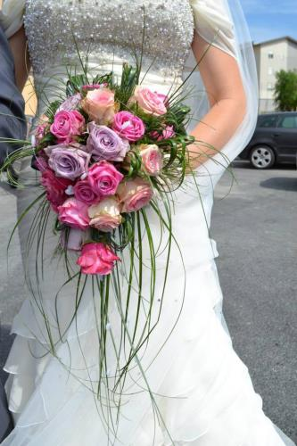 bouquet rose colorate