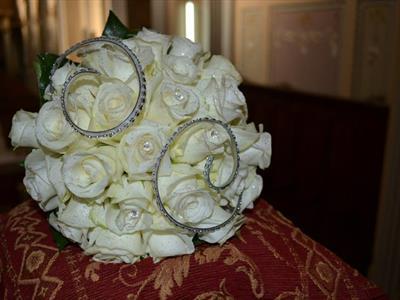 bouquet rose e strass