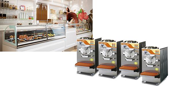 vetrina e macchina gelateria