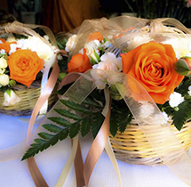 Addobbo tavolo arancio