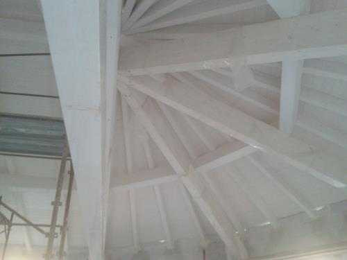Legno bianco tetto