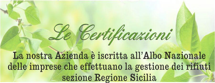 certificazioni rifiuti