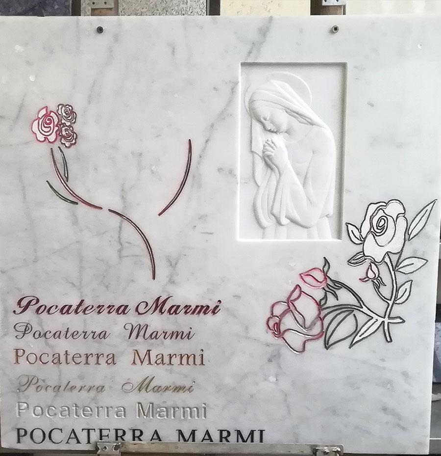 esempi incisione su marmo ferrara
