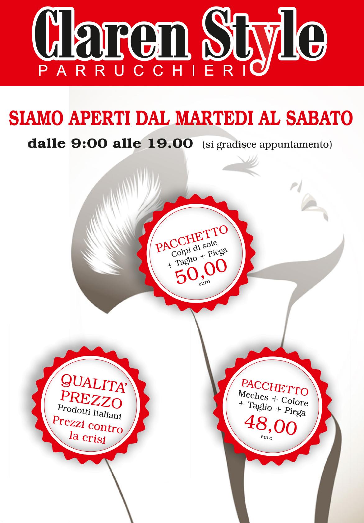 parrucchiere claren style roma nord promozioni