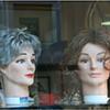 Vetrina parrucche