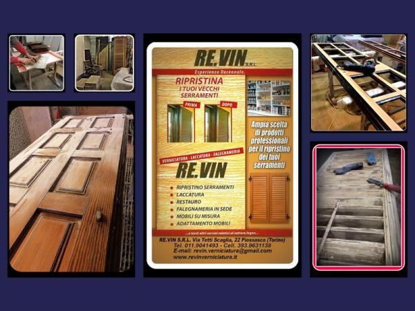 restauro infissi e mebili in legno Pissasco Torino