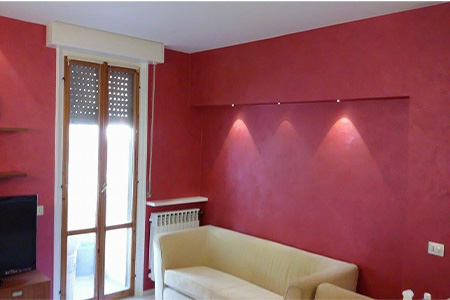 parete rossa