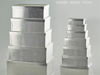 scatole argento