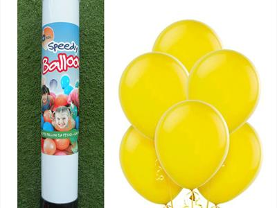 bombola palloncini gialli
