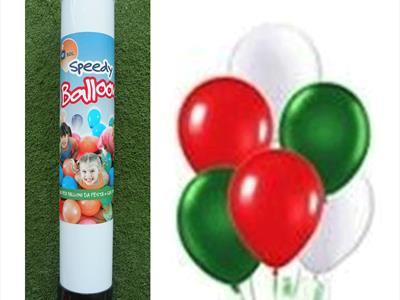 bombola palloncini tricolore