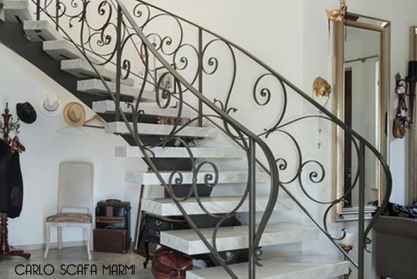 realizzazione scale in marmo carlo scafa Roma tiburtina