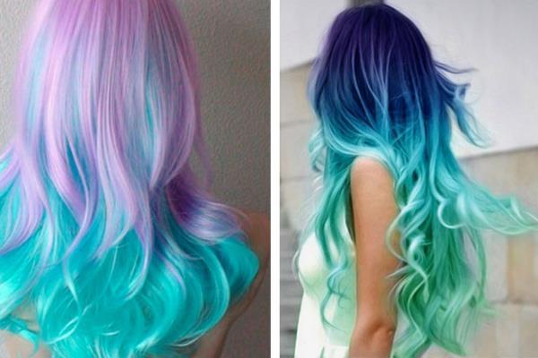 Colore capelli celeste