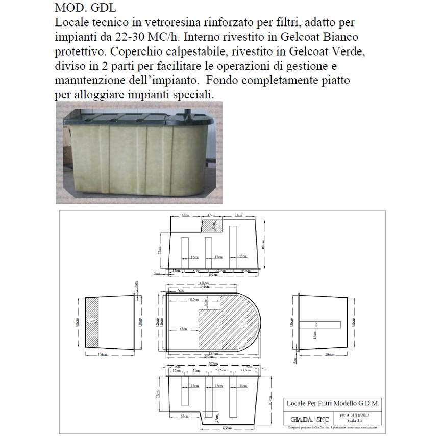Locale Tecnico in Vetroresina mod. GDL