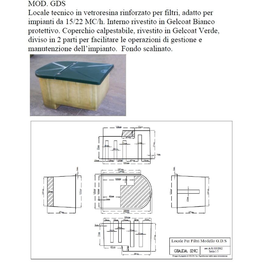 Locale Tecnico in Vetroresina mod. GDS