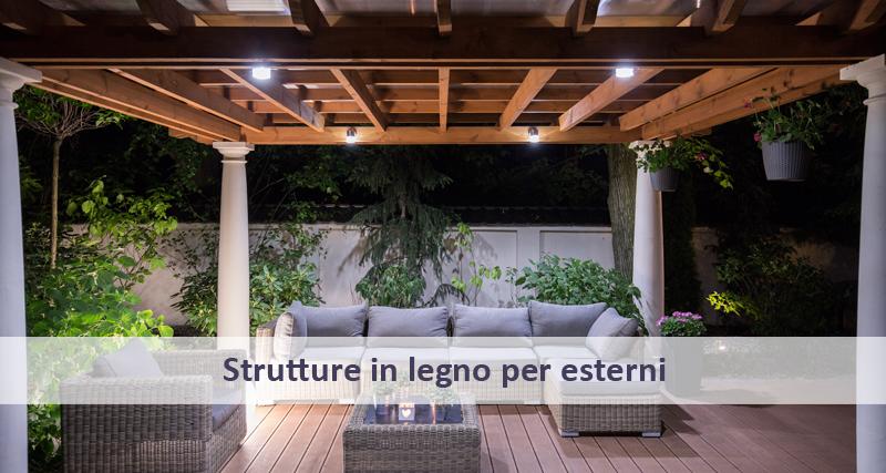 strutture in legno per giardini blue tende