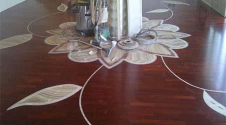 decorazione parquet