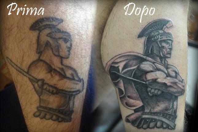 Cover up tattoo Perla Nera Tattoo Studio Roma Prati