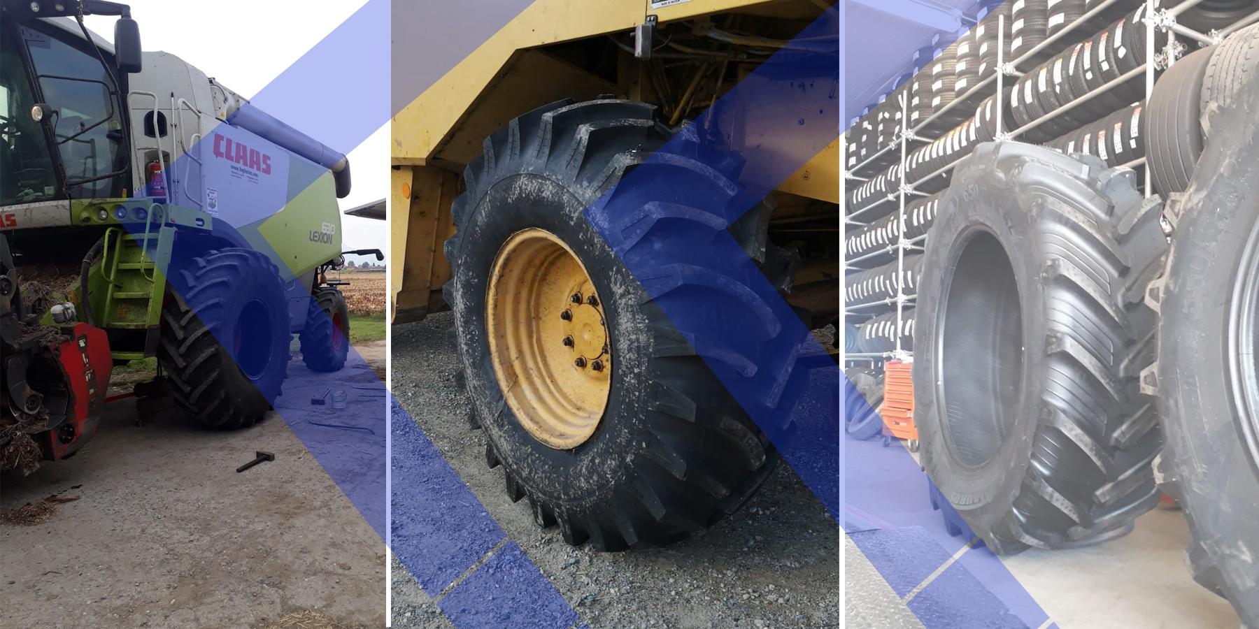 Gomme per macchine agricole